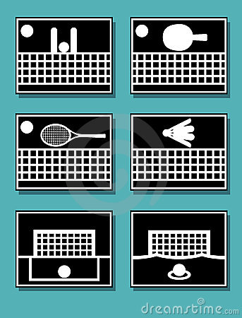 Sport equipments  icons.