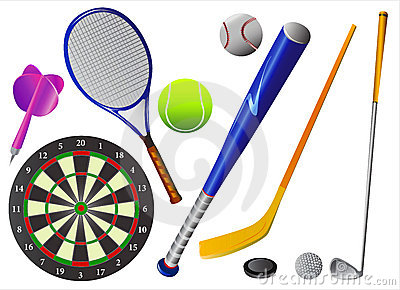 Sport equipments vector