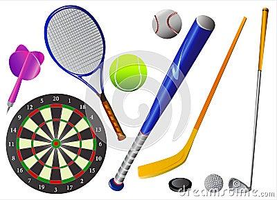 Sport equipments vector