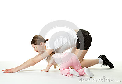 Sport exercises with child