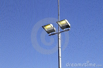 Sport field lighting equipment spots in light