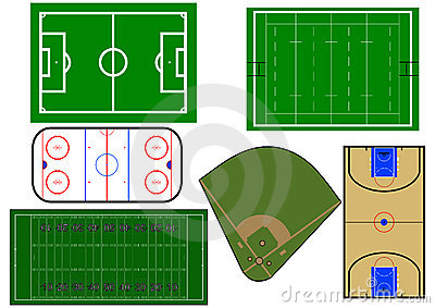 Sport fields  illustration