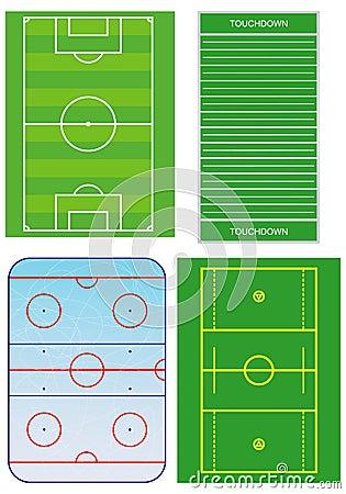 Free Sport Fields Scheme. Stock Images - 17788874