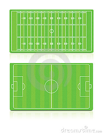 Sport Fields set with grass