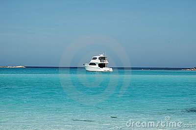 Sport Fishing Boat on Caribbean Sea