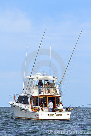 Sport Fishing Lake Ontario - Salmon Charter Boat Editorial Photo