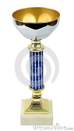 Sport golden trophy