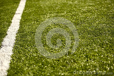 Sport Grass Field with Line