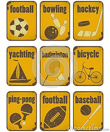 Sport grunge signs