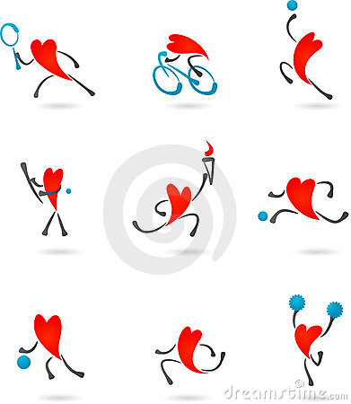Sport heart icons