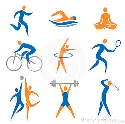 Free Sport Icons Royalty Free Stock Photo - 24580245