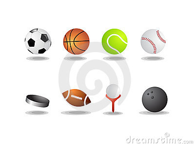 Sport icons as  balls isolated