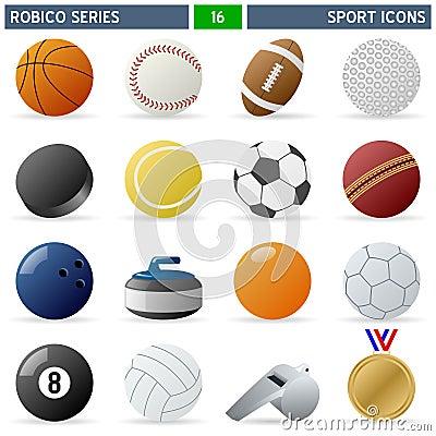 Free Sport Icons - Robico Series Royalty Free Stock Photo - 13816455