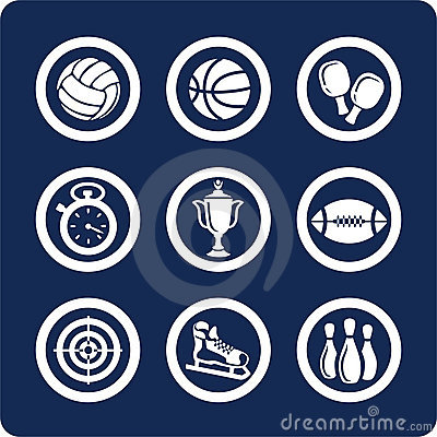 Free Sport Icons (set 11, Part 1) Stock Photography - 602572