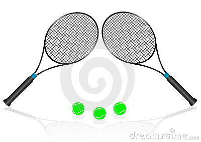 Sport illustration with tennis rackets
