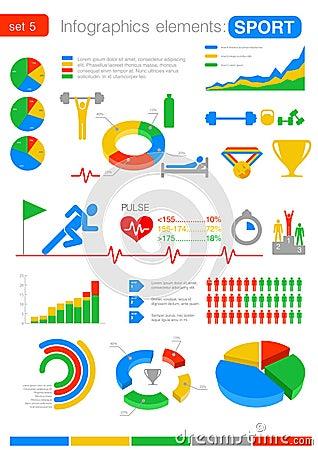 Sport Infographics. Statistics and analytics for b