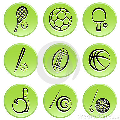 Sport items icon