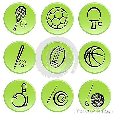 Sport items icon