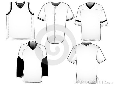 Baseball Jersey Templates Stock Vector - Image: 78714023