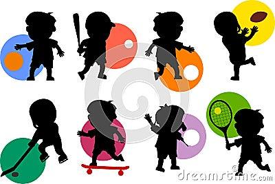 Sport Kids Silhouettes [1]