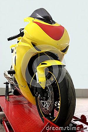 A sport motorbike