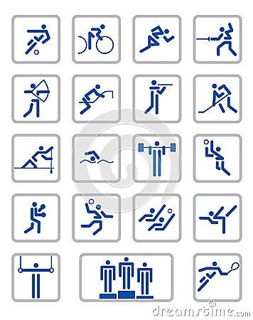 Sport pictographs