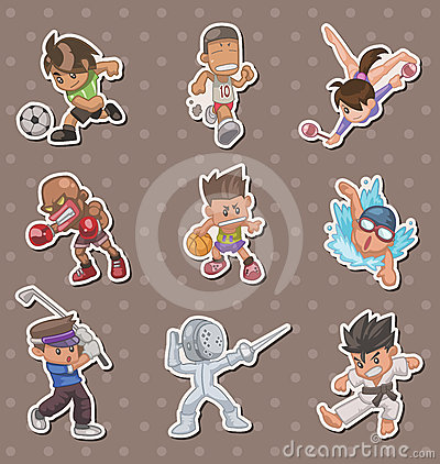 Sport players stickers