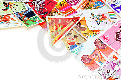 Sport on postage stamps.