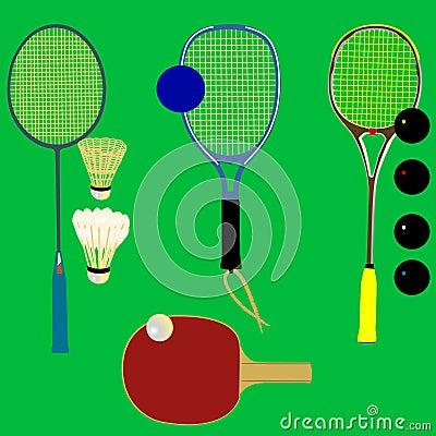 Sport rackets - vector