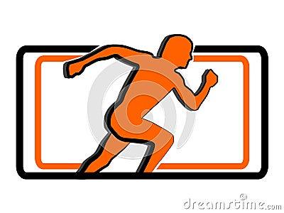 Sport running man logo