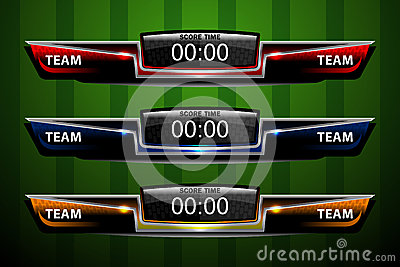 Scoreboard Template For Sport Vector Image 66895961 – Scoreboard Template