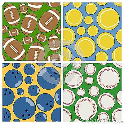 Sport Seamless Patterns Set [2]