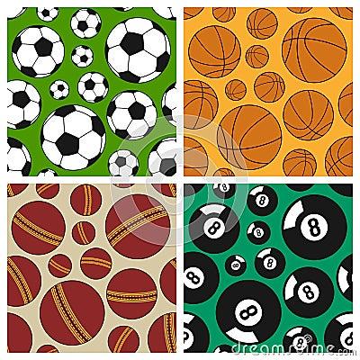 Sport Seamless Patterns Set [1]