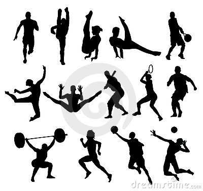 Sport shapes vector