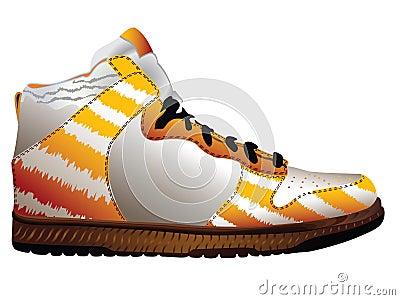 Sport shoe over white
