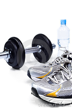 Free Sport Shoes Ready To Exercise Stock Photography - 15253522