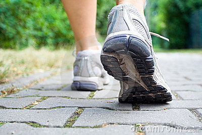Sport shoes recreation walking woman