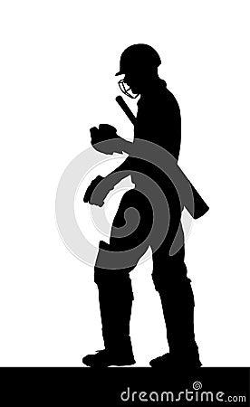 Sport Silhouette - Dismissed Cricket Batsman