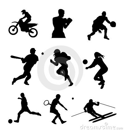 Free Sport Silhouette Set Stock Images - 8137124