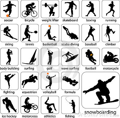 Free Sport Silhouettes Royalty Free Stock Photo - 11955865