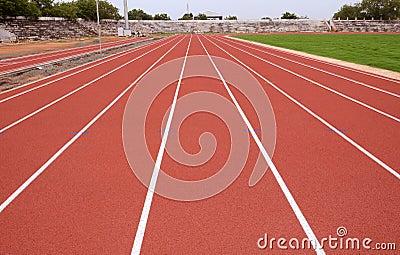 SPORT STADIUM WITH RUNNING TRACKS STRIP