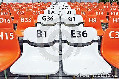 Sport stadium seat and number