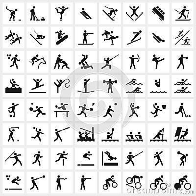Free Sport Symbols Royalty Free Stock Photo - 52787035