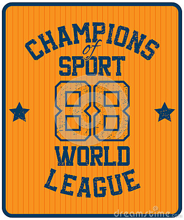 Sport Typography Label