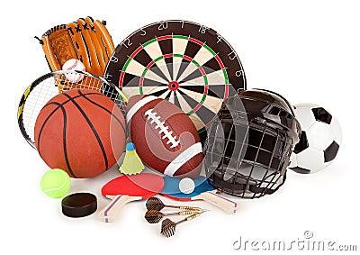Sport und Spiel-Anordnung