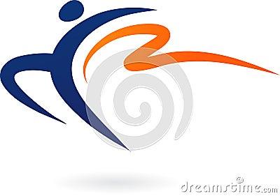 Sport vecto rlogo - gymnastics