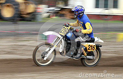 Sport vintage motocycle race. Editorial Photography