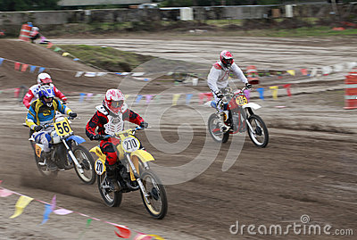 Sport vintage motocycle race. Editorial Stock Image