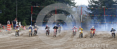 Sport vintage motocycle race. Editorial Photo