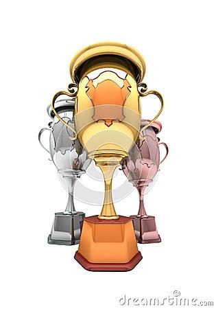 Sport winning cups